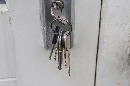 Keys left in door