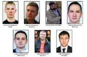 """The GRU seven - from the FBI's """"wanted"""" poster"""