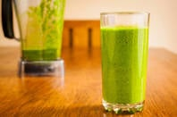 green smoothie or frog in blender - you choose