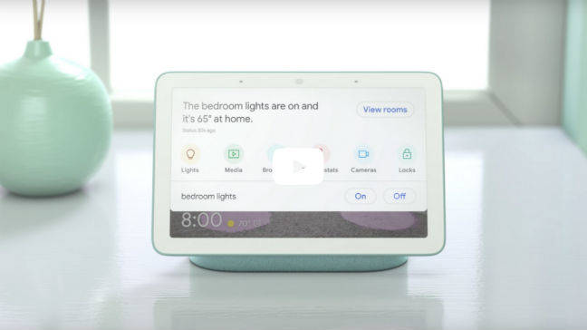 The Google Home Hub is a smart speaker with tablet interface