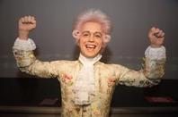 Wax figure of Wolfgang Amadeus Mozart
