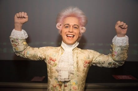 Wax figure of Wolfgang Amadeus Mozart