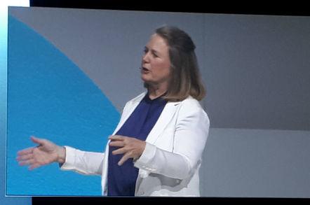 Diane Greene, CEO, Google Cloud, speaking at Google Cloud Next 2018