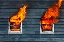 Windows on fire