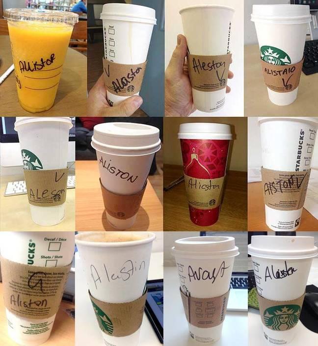 More Starbucks mispellings