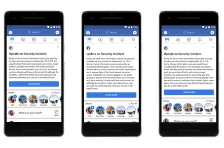 Facebook notifications for Sept. 2018 security breach