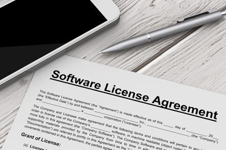 Software license image
