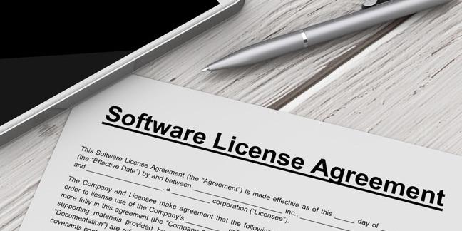 Software license image
