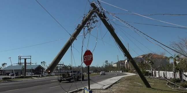 Hurricane Damage - downed poles