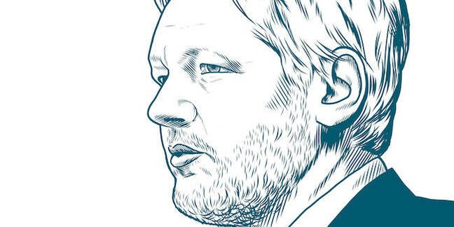 Illustration of Julian Assange