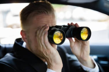Someone spying on someone else