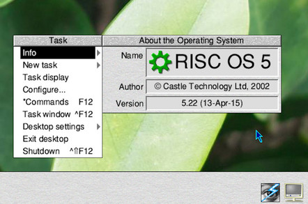 Screenshot of RISC OS 5