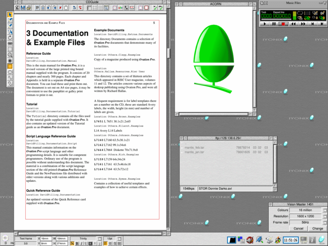 Screenshot of the RISC OS 5 desktop
