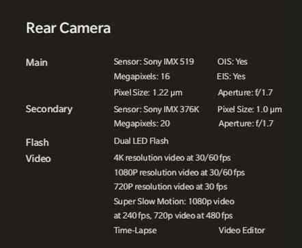 OnePlus 6T specs