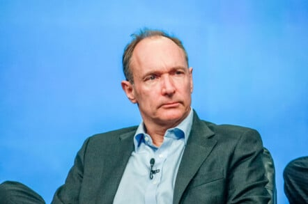 ORLANDO, FLORIDA - JANUARY 18, 2012: Inventor and founder of World Wide Web Sir Tim Berners-Lee delivers an address to IBM Lotusphere 2012 conference