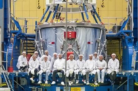 Orion service module (credit: NASA/Rad Sinyak)