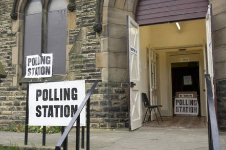 A polling station in the UK