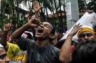 Rohingya protesting