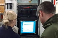 Windows XP running aboard HMS Enterprise