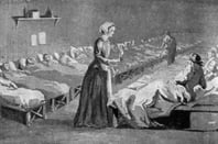 Florence Nightingale (1820-1910), English Nurse and pioneer of modern medicine in the hospital at Uskudar (Scutare) during the Crimean War, 1854-1856