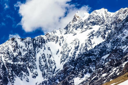 Andes mountain range at Santiago de Chile