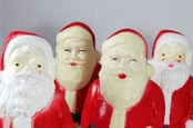 Christmas santa plastic creepy figurines