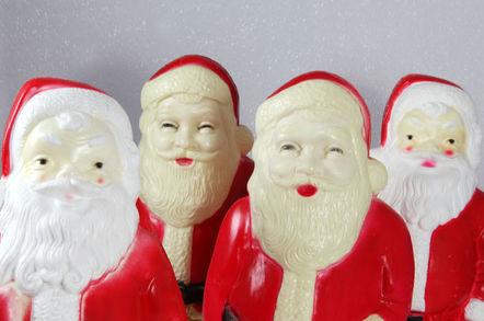 Christmas santa plastic creepy figurines