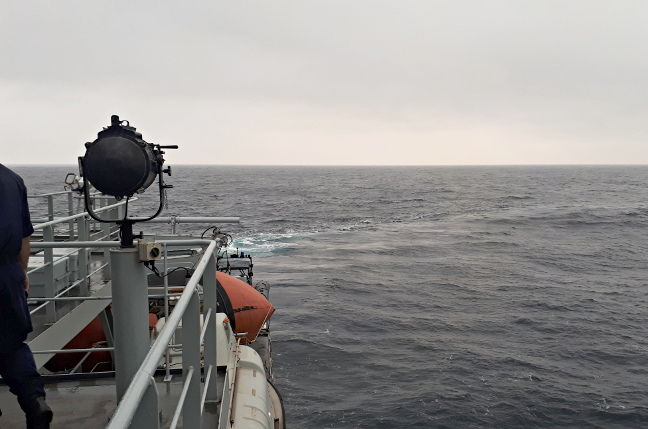 The Arctic Sea, as seen from HMS Enterprise