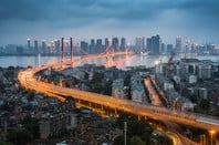 Wuhan on the Yangtze River in China