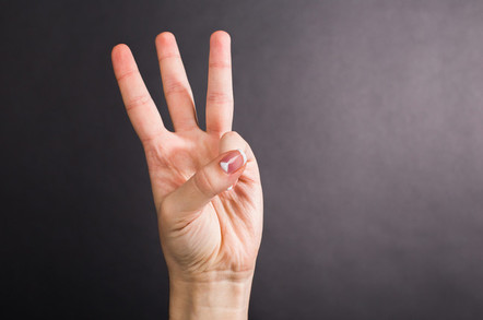 Three fingers, no more, no less