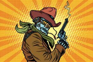 Cowboy robot image by rogistok via shutterstock