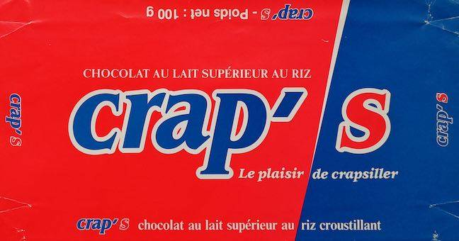 Crap's chocolate wrapper from France