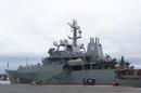 HMS <i>Enterprise</i>, pictured alongside at the port of Kristiansund, Norway