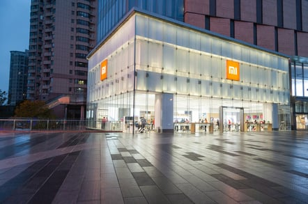 xiaomi store on a rainy night in NanJing, JiangSu, China. Pic: Cookie Wei / Shutterstock.com