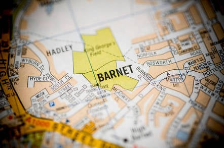 map of barnet in north london