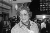 Baroness Trumpington, Conservative party Member of the House of Lords, attends the party conference on October 10, 1989 in Blackpool, Lancashire