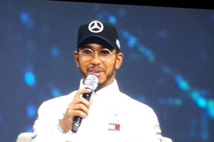 Lewis Hamilton at HPE Discover