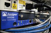 Closeup on juniper networks' services gateway srx 240