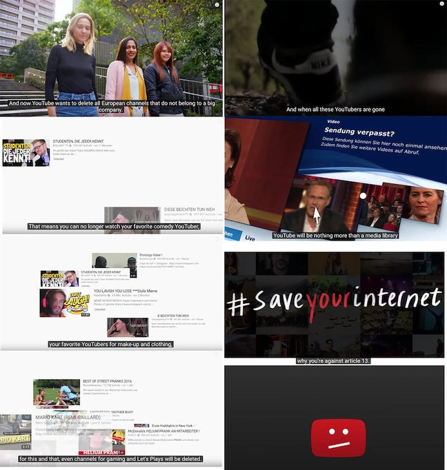YouTube Save The Internet Video