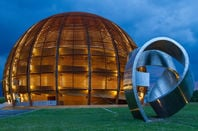CERN research center, home of Large Hadron Collider which tests theories in particle physics, such as expected properties of Higgs boson - in Geneva, Switzerland