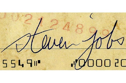 Steve Jobs usually signed entirely in lowercase (image: Nate D Sanders)