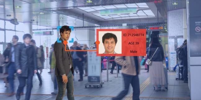 Man recognized by facial recognition system