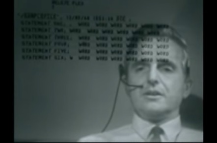 Doug Engelbart leads us through The Mother Of All Demos