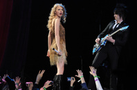 Taylor Swift on stage in Milan