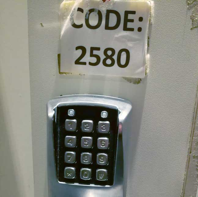 Top secret door code