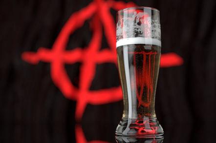beer anarchist flag