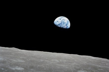 The Earth from the Moon (pic: NASA)