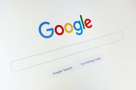 google search page - feeling lucky