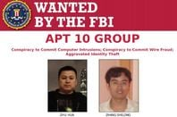 FBI wanted poster of Zhu Hua and Zhang Shilong
