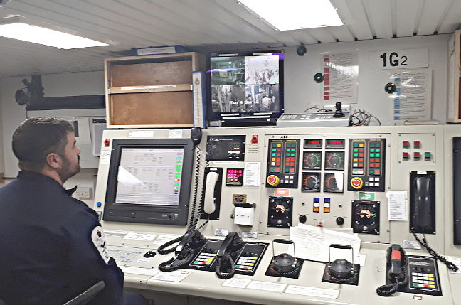 The machinery control room